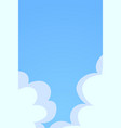 blue sky with white clouds background cloud on vector image vector image