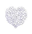 Blueberry heart shape vector image vector image