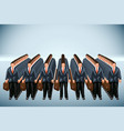 business crowd vector image vector image