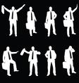 business men silhouette vector image