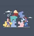 business teamwork and cooperation concept vector image