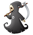 cartoon grim reaper with scythe vector image