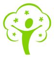 cartoon tree icon vector image vector image