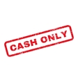 Cash Only Text Rubber Stamp vector image vector image