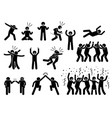 celebration poses and gestures artwork depicts vector image vector image