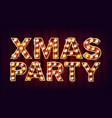 christmas retro party sign realistic retro vector image