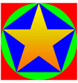 color star pentagon circle square vector image vector image