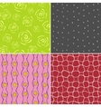 Colored seamless patterns vector image vector image