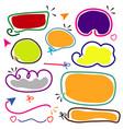 colorful hand drawn line frame border set vector image vector image