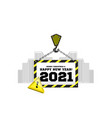 congratulations to new year 2021 on the vector image
