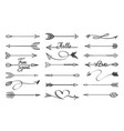 curved arrows sketch vector image