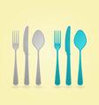 cutlery concept vector image vector image