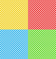 different colors checked fabric tablecloth texture vector image vector image