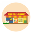 Digital super market building icon vector image vector image
