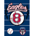 Eagle league baseball vector image vector image
