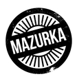 Famous dance style Mazurka stamp vector image vector image