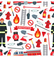 firefighting pattern seamless background vector image