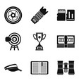 fitness news icons set simple style vector image vector image