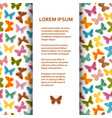 flat poster or banner template with butterflies vector image vector image