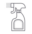 foggy spray bottle line icon sign vector image vector image