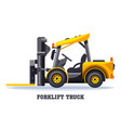 forklift truck warehouse loader fork lift machine vector image