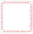 frame red 2 1712 vector image vector image