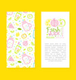 fresh juice card template with text flyer vector image vector image