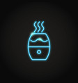 glowing neon humidifier icon in line style vector image vector image