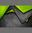 grunge tech material green and dark grey vector image vector image