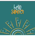hand drawn lettering composition hello summer vector image