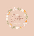 happy easter design for greeting cards posters vector image