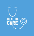 health care with stethoscope vector image
