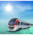 High-speed train at sunny day vector image vector image