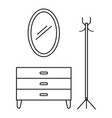 Home furniture icon outline style