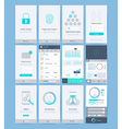 interface and ui design elements vector image vector image