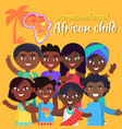 international african child day postcard with kids vector image vector image