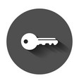 key icon in flat style access login with long vector image