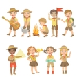 Kids Scouts Hiking Set vector image vector image