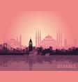 landscape turkish city istanbul vector image