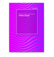 layout from lines wavy striped surface vector image vector image