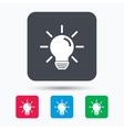 Light bulb icon Lamp illumination sign