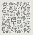 Medical icons sketch vector image