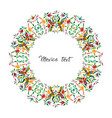 mexican traditional textile embroidery round style vector image vector image