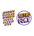 modern retro alphabet of english letters vector image