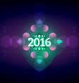 new year greeting with 2016 3d style text vector image vector image