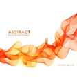 Orange wavy abstract background vector image vector image