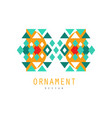 ornament logo design colorful decorative abstract vector image