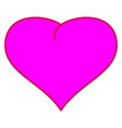 pink heart sign 3512 vector image