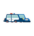 police car cartoon style patrol car vector image vector image