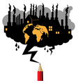 pollution industrial concept vector image vector image